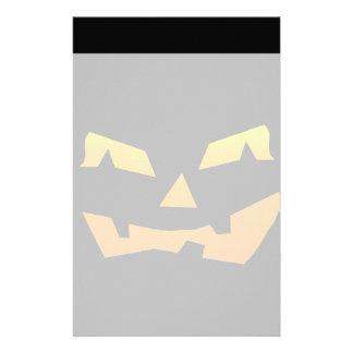 Spooky Jack O Lantern Halloween Pumpkin Face Stationery Paper