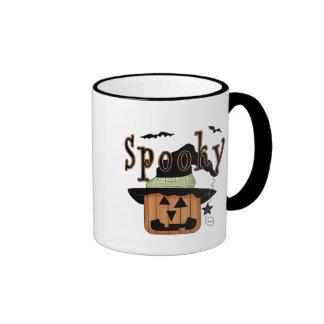 Spooky Jack-O-Lantern Ringer Mug