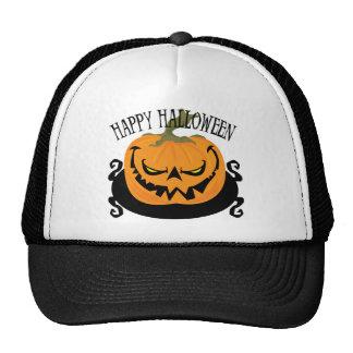 Spooky Jack-o-lantern Trucker Hat Mesh Hats