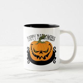 Spooky Jack-o-lantern Two-Tone Mug Coffee Mug