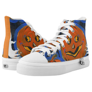 Spooky Jacks Halloween High Top Shoes