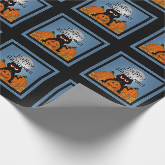Spooky Kitty Happy Halloween Wrapping Paper