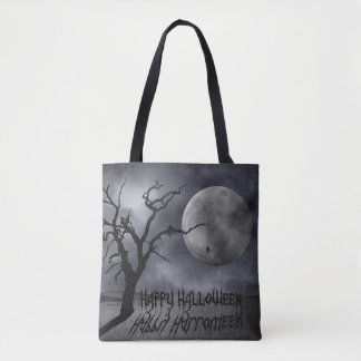Spooky Landscape Halloween All-Over-Print Tote Bag