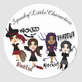 Spooky Little Characters Stickers
