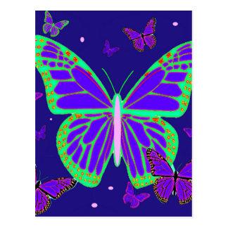 Spooky Luminous Butterflies By Sharles Art Postcard