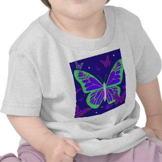 Spooky Luminous Butterflies By Sharles Art Shirts