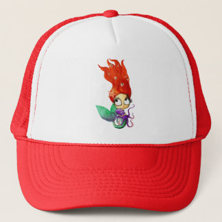 Spooky Mermaid with Octopus Trucker Hat