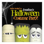 Spooky Monster & Friends Halloween Costume Party Personalized Announcement