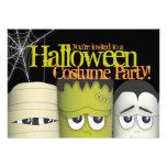 Spooky Monsters & Mummy Halloween Costume Party Custom Invites