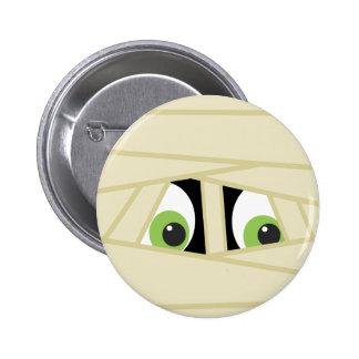 Spooky Mummy Head Halloween Party Button