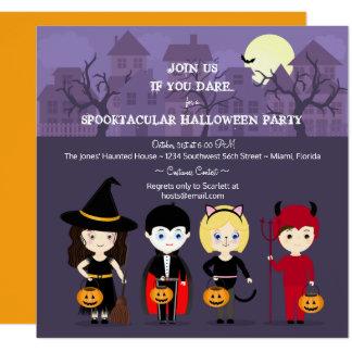 Spooky Night Halloween Party 13 Cm X 13 Cm Square Invitation Card