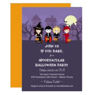 Spooky Night Halloween Party 13 Cm X 18 Cm Invitation Card