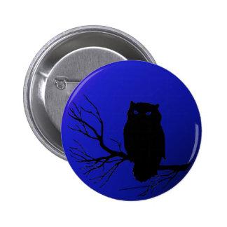 Spooky Night Owl 6 Cm Round Badge