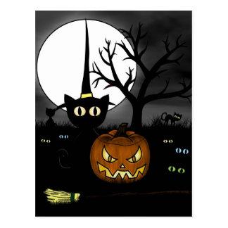 'Spooky Night' Postcard