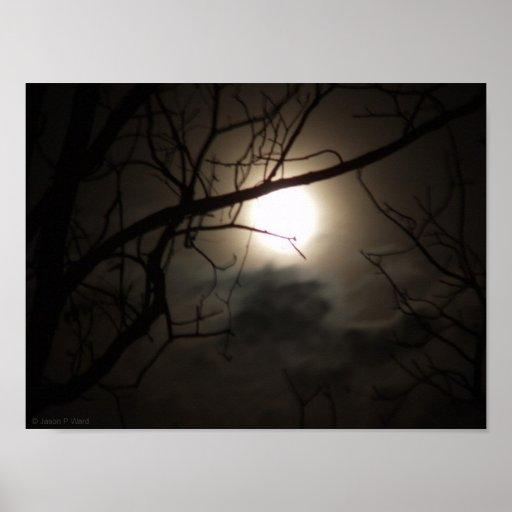 Spooky October Moon Poster