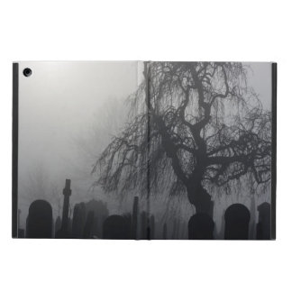 Spooky Old Cemetery On A Foggy Day Cover For iPad Air