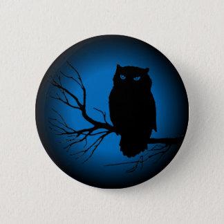 Spooky Owl Blue Moon 6 Cm Round Badge