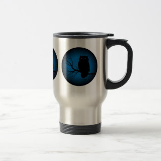 Spooky Owl Blue Moon Coffee Mug
