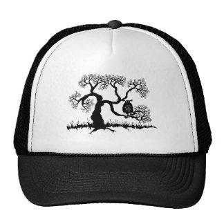 Spooky Owl In Tree Hats