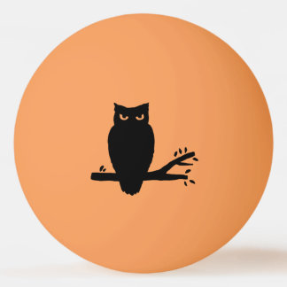 Spooky Owl Silhouettes Ping Pong Ball