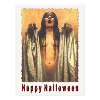 Spooky Postcard For Halloween