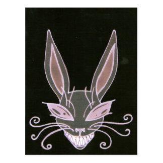 spooky rabbit postcard