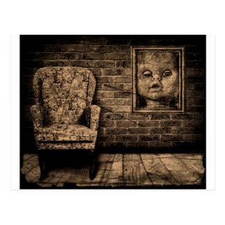 Spooky room. postcard