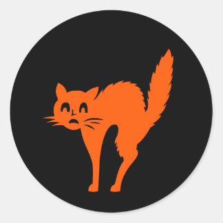 Spooky Scared Halloween Cat Fun Sticker