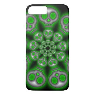 Spooky Silver Skulls iPhone 7 Plus Case