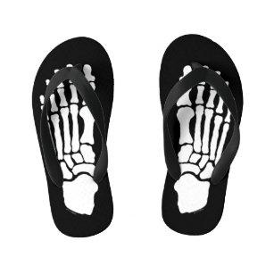 3e3fa0f14076 Spooky Skeleton Feet Kid s Flip Flops