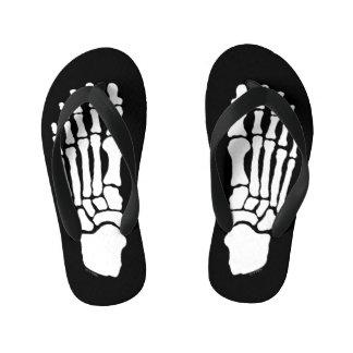 Spooky Skeleton Feet Kid's Flip Flops