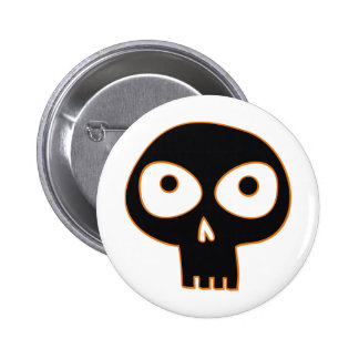 Spooky Skull 6 Cm Round Badge