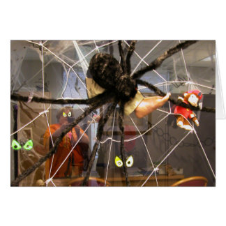 Spooky Spider Halloween Office Decorations Photo Cards