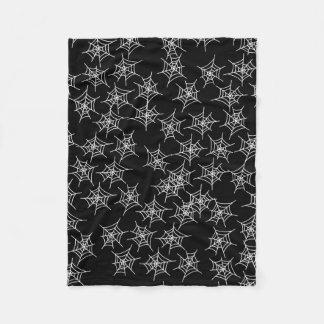 Spooky spider Webs Fleece Blanket