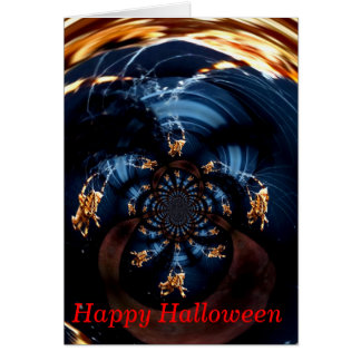 Spooky Spiders in a Spin! Greeting Card