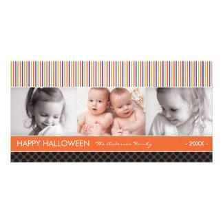 SPOOKY STRIPES    HALLOWEEN PHOTO CARD