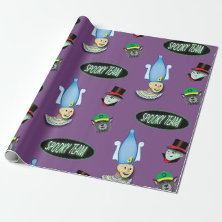 Spooky Team wrapping paper