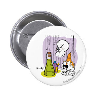 Spooky the Tuff Ghost 6 Cm Round Badge