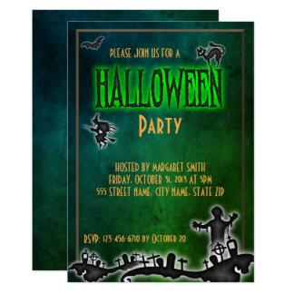 Spooky Toxic Halloween Party Invite