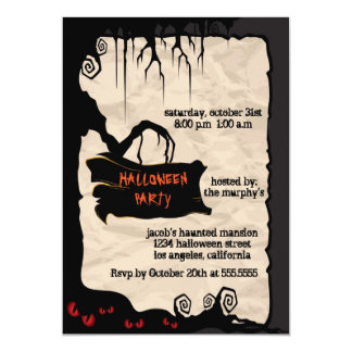 Spooky Tree - Halloween party invitation