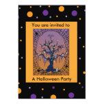 Spooky Tree & Spider Web Halloween Invitation 13 Cm X 18 Cm Invitation Card