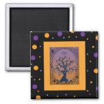 Spooky Tree & Spider Web Halloween Magnet
