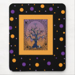 Spooky Tree & Spider Web Halloween Mouse pad