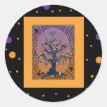 Spooky Tree & Spider Web Halloween Sticker