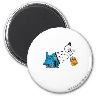 Spooky Trick or Treat 3 6 Cm Round Magnet