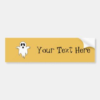 Spooky White Ghost Bumper Sticker