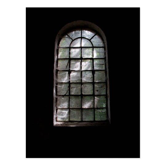 Spooky window postcard