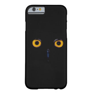 Spooky Wise Old Owl Eyes Face Halloween Barely There iPhone 6 Case