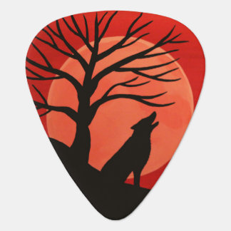 Spooky Wolf Guitar Pick