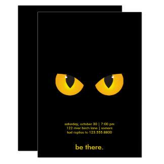 Spooky Yellow Eyes, Halloween Invitation